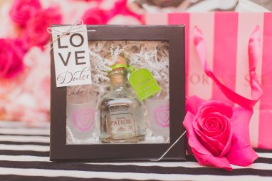 PINK party xoxo Tequila shot glass favor